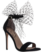 Kurt Geiger Suzette Bow Stiletto Heeled Sandals, Black