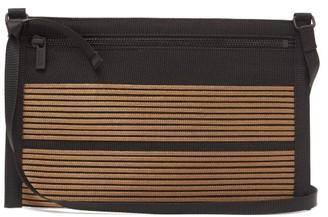 Issey Miyake Homme Plisse Obi Striped Cross-body Bag - Mens - Brown Multi