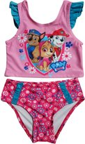 Nickelodeon Paw Patrol Little Girls Toddler Skye Two Piece Tankini Swimsuit