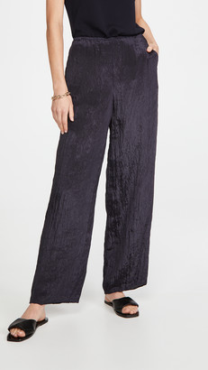 Vince Textured Wide Leg Pull On Pants