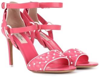 Valentino Garavani Free Rockstud Spike 90 leather sandals