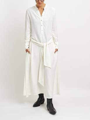 Maazi - Raw Viscose Long Dress with Belt. MZVE40231 - s | viscose | Raw