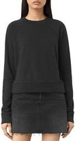 AllSaints Leti Lace-Up Side Sweatshirt