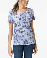 Karen Scott Print T-Shirt, Created for Macy's