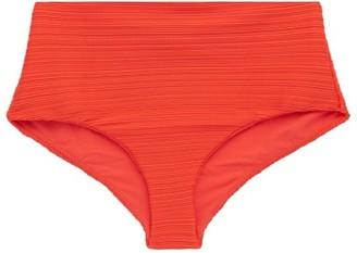 Mara Hoffman Lydia High-rise Bikini Briefs - Womens - Orange