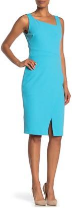 Betsey Johnson Asymmetrical Cross Front Shift Dress