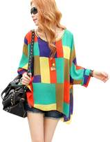 fashionbeautybuy Women Blouse Lady Girl Batwing Sleeve Beach Loose Tee Shirts Casual Tunic Tops