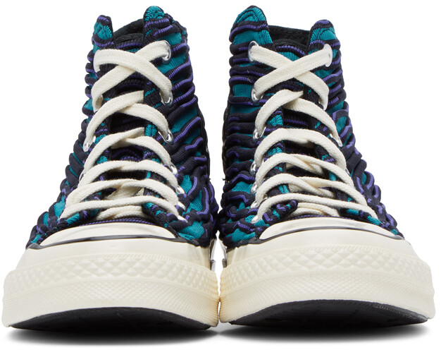 Thumbnail for your product : Converse Blue & Purple Wavy Knit Chuck 70 High Sneakers