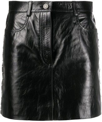 Givenchy Patent-Leather Mini Skirt