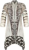 Izabel London Contrast Print Cardigan