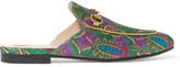 Gucci Princetown Horsebit-detailed Metallic Jacquard Slippers