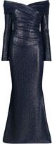 Talbot Runhof Off The Shoulder Dress