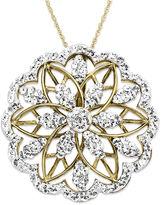 Swarovski Kaleidoscope 18k Gold over Sterling Silver Necklace, Crystal Pendant with Elements