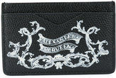 Alexander McQueen skull insignia cardholder - men - Calf Leather - One Size