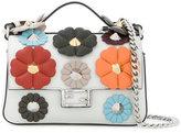 Fendi Embellished leather micro Double Baguette shoulder bag