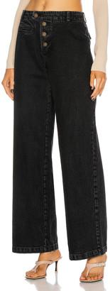 ZEYNEP ARCAY Low Waist Denim Pant in Black   FWRD
