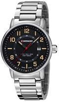 Wenger Unisex Chronograph Quartz Watch, Stainless Steel 01.0341.114