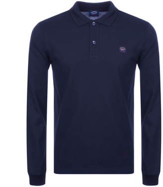 Paul & Shark Paul And Shark Long Sleeved Polo T Shirt Navy