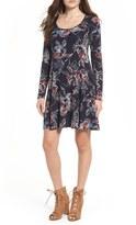 Lush Women's Scoop Neck Swing Dress