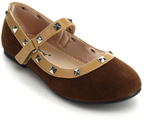 Jelly Beans Brown Embellished Rein Mary Jane