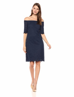 Lark & Ro Women's Half Sleeve Lace Off the Shoulder Sheath Dress