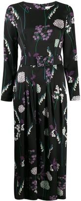 Goat Josephine foxglove print dress