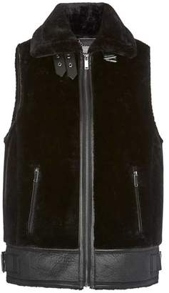 Mint Velvet Black Faux Fur Gilet