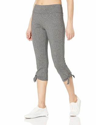 Andrew Marc Women's Cotton Spandex Crop Legging with Chunky Side tie