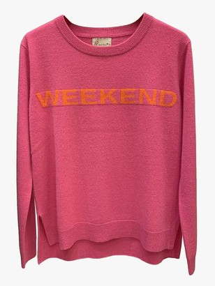 LULU'S LOVE - Pink Weekend Cashmere Jumper - S
