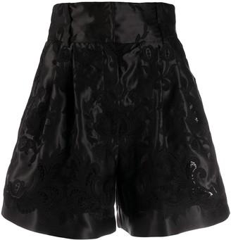 Dolce & Gabbana high rise jacquard shorts
