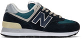 New Balance Navy 574 Sneakers