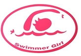 Bay Six Swimmer Girl Pink Decal 27146