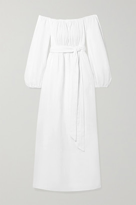 Mara Hoffman Net Sustain Malika Off-the-shoulder Textured-organic Cotton Maxi Dress - White