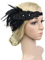 YELO Feather 20s Headpiece 1920s Flapper Headband Roaring 20s Headband