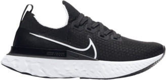 Nike React Infinity Run Flyknit Running Shoes - Black / White Dark Grey