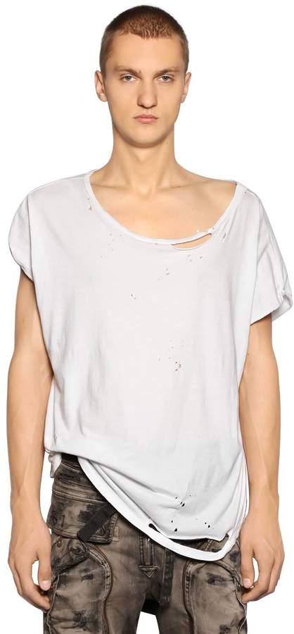 Faith Connexion Ripped Cotton Jersey T-Shirt