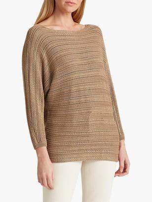 Ralph Lauren Ralph Alzinda 3/4 Sleeve Knitted Jumper, Gold