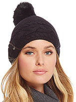 UGG Cable-Knit Beanie with Shearling Pom