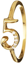 Lulu Frost CODE 18K Gold Number Rings with Diamonds, Assorted Numbers 5-9
