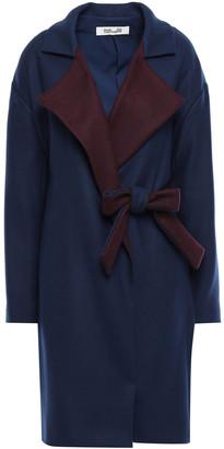 Diane von Furstenberg Two-tone Wool-blend Felt Coat