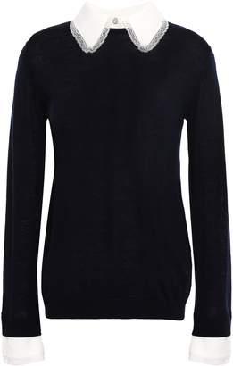 Claudie Pierlot Crystal-embellished Wool Sweater