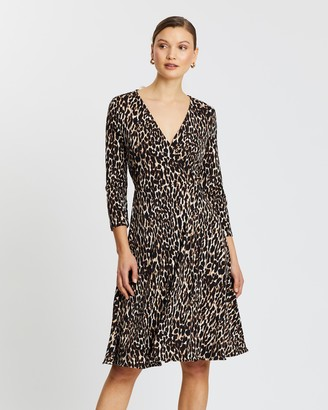 Banana Republic Long Sleeve Matte Jersey Wrap Dress