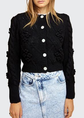 LES COYOTES DE PARIS Kate Strong-Shoulder Cardigan