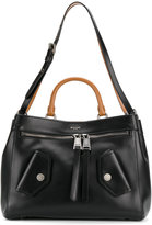 Moschino zip detail tote - women - Cotton/Leather - One Size