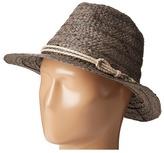 """San Diego Hat Company RHF6121 2"""" Brim Raffia Fedora Hat"""