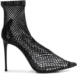 Le Silla Gilda 110mm net-sock pumps