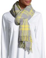 Eileen Fisher Soft Wool/Cashmere Plaid Scarf