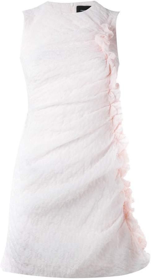 Simone Rocha ruffled fitted cloqué dress