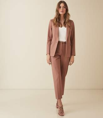 Reiss Harper Jacket - Slim Fit Blazer in Dusky Pink