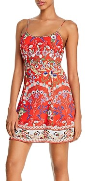 Alice + Olivia Ira Spaghetti Strap Flared Dress